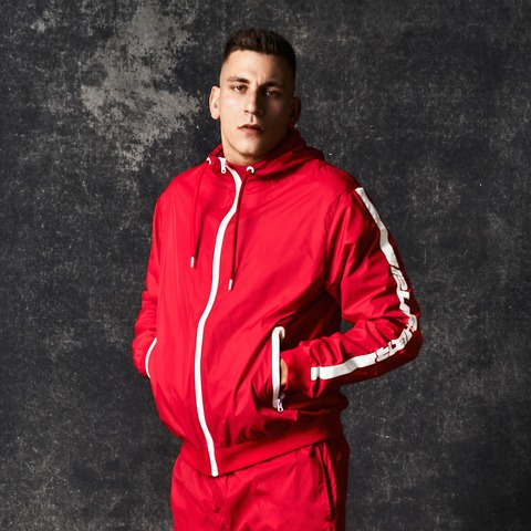 Red Fast Lane Windbreaker von Pusher Apparel - Windbreaker jetzt im Pusher Apparel Shop