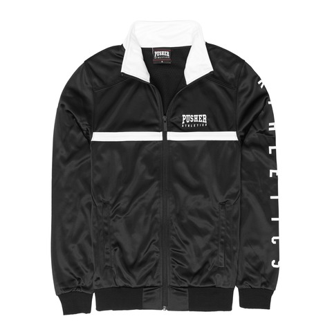 Athletics Track Jacket Black von Pusher Apparel - Jacke jetzt im Pusher Apparel Shop