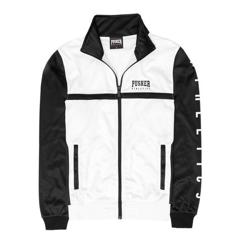 Athletics Track Jacket White von Pusher Apparel - Jacke jetzt im Pusher Apparel Shop