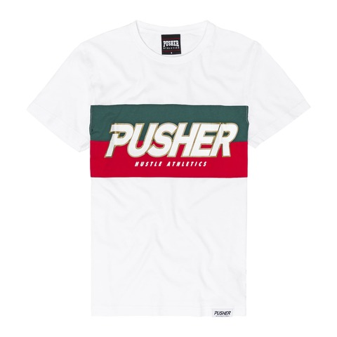 PUSHER Hustle Tee White von Pusher Apparel - T-Shirt jetzt im Pusher Apparel Shop