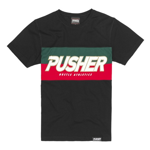 PUSHER Hustle Tee Black von Pusher Apparel - T-Shirt jetzt im Pusher Apparel Shop